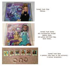 Can you help me find these items? (BratzCollector) Tags: 2003 dolls formal dana funk sasha accessories mga bratz cloe