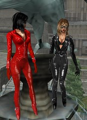 20 (SoakinJo) Tags: leather catsuit pvc balletheels wetlook wetclothes imvu