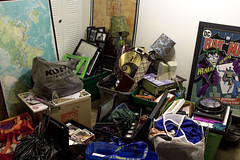 Day Fifty-Four (MBPruitt) Tags: stuff moving boxes totes wall art crap mess messy
