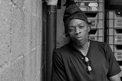 Backyard portraiture. (samuel.musungayi) Tags: portrait coco malabar cocomalabar artist artiste afro africa afrique african congo kongo bantu brussels bruxelles noir blanc black white face homme man nikon samuel musungayi samuelmusungayi photography photographie natural naturelle light lumire music musique musicien day jour visage urban bw