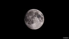 Waxing Gibbous Moon (Astro☆GuiGeek) Tags: moon lune astro astrophotography astronomy gibbous conjonction t3i astronomie conjunction 600d astrophotographie canonphotography eos600d canoneos600d rebelt3i lunegibbeusecroissante astroguigeek moonsaturnmarsconjonction franceastronomie astro2016