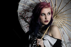 Punk Rock - GC (5) (FightGuy Photography) Tags: portrait beautiful bigeyes model eyes gorgeous parasol purplehair mermaidhair gcchan