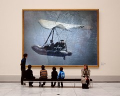 Paragliding-Boat-PhotoFunia (Frizztext) Tags: museum boat sicily paragliding flyingboat miguelngel frizztext museumseries miguelaadam photofunia