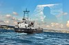 (TaMiMi Q8) Tags: trip travel blue sea sky people cloud reflection clouds turkey boat ship istanbul