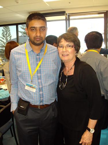 Director Mr. G.S.Kang with Principal of QIBA, Australia