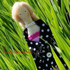 Spring brouht my new tilda doll. (harcownia.pl) Tags: pink spring doll handmade tilda ragdoll giftidea lalka handmadedoll perls pery tildas rkodzieo rcznierobione