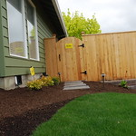 """Greenhaven Landscapes Inc., fence, lawn, walkway, stepping stones, retaining wall <a style=""""margin-left:10px; font-size:0.8em;"""" href=""""http://www.flickr.com/photos/117326093@N05/17183935290/"""" target=""""_blank"""">@flickr</a>"""