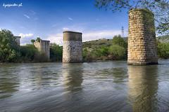 the Turkish bridge (kzappaster) Tags: bridge reflection water river sony 28mm greece smc a7 larissa stonebridge 28mmf28 thessaly pinios mirrorless smca28mmf28 sonya7 amygdalea compactsystemcamera koutsochero