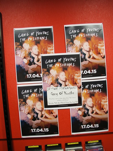 Record Store Day: Gang of Youths Signage inside Red Eye Records