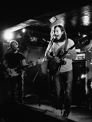 a great big pile of leaves (Christina Marie Riley Photography) Tags: music white black records film leaves rock analog 35mm matt big punk king matthew glasgow live great emo performance delta hut pile indie processing push analogue 3200 ilford wah tuts revival topshelf fazzi