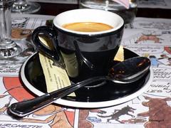 Have a nice weekend! Bon week-end! (frenziM) Tags: stilllife food france coffee french drink kaffee bistro espresso wekend bistrot cae
