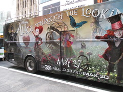 Alice Through the Looking Glass Bus Billboard 9144 (Brechtbug) Tags: street new york city nyc bus film glass cat movie tim looking cheshire near alice broadway lewis disney double billboard johnny billboards carroll through mad depp avenue wonderland 7th 42nd hatter burtons decker in 2016 05192016