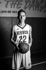 Dawg (ranzino) Tags: portrait blackandwhite bw senior monochrome basketball tyler pa gym berwick bulldogs berwickhighschool