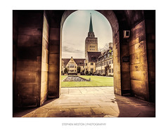 Nuffield Arch (Stephen Weston Photography) Tags: light colour building tower college stone architecture vintage buildings photography photo arch fuji shot pics outdoor images structure stephen walkway oxford fujifilm hdr colouring weston x20 selective lightroom 2016 nuffield stephenwestonphotography