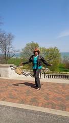 I Am Woman. I Fly! (Laurette Victoria) Tags: woman female pants auburn jeans jacket milwaukee denim lakepark laurette