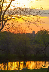 Still Spring (Matt Champlin) Tags: sunset summer usa home nature barn canon landscape spring peace farm country farming peaceful silo fields farms frogpond idyllic memorialday springtime 2016 skaneateles