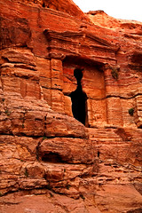 Path to the Monastery 49 (David OMalley) Tags: world city heritage rose rock stone site desert path petra siq carving unesco east jordan monastery arab middle carvings jordanian monumental jebel nabatean nabateans hewn maan almadhbah