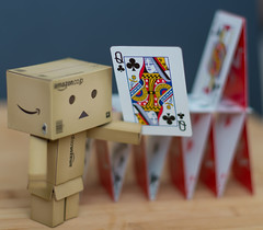 House of Danbo (g3az66) Tags: cards nikon houseofcards playingcards danbo 52weeks niftyfifty danboard 52photos2016