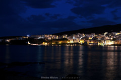 Blue night... (dimitra_milaiou) Tags: world life city blue sea sky people white house love beach beautiful architecture night clouds 35mm wow reflections dark landscape island greek happy lights town nice nikon holidays europe place 7100 good earth d live magic ngc visit velvet greece shore hora goodnight planet moment vacations chora andros dimitra d7100 milaiou