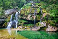 Slovenia (Yann OG) Tags: longexposure mountain color green water montagne waterfall eau colorfull vert slovenia slap slovenija cascade soca slovénie chutedeau polarizingfilter ruisseau soča bovec poselongue filtrepolarisant