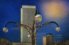 (155/16) Madrid, zona Azca (Pablo Arias) Tags: pabloarias espaa spain hdr photomatix nx2 photoshop nubes texturas cielo arquitectura madrid zonaazca comunidaddemadrid torrepicasso torreeuropa edificios