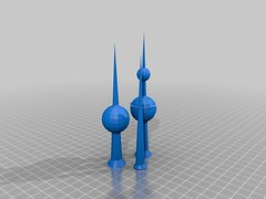 kuwait towers  3d   (wadypalace) Tags: 3d towers kuwait