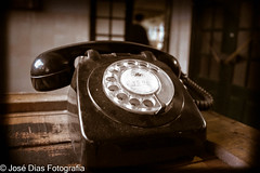 Lost in time (Jos C. Dias) Tags: telephone old black table wood rotate man vintage colors
