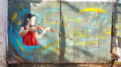 Magic music (D11 Urbano) Tags: boy art girl poster stencil colombia arte venezuela nios caracas urbano cartagena venezolano arteurbano d11 streetartvenezuela artvenezuela d11streetart arteurbanovenezuela d11art d11urbano