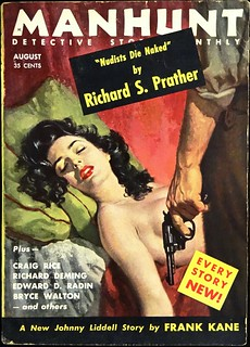 Manhunt Detective Story Monthly Vol. 3, No. 8 (August., 1955). Cover Art by Robert Maguire