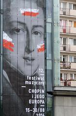 Chopin (kinaaction) Tags: city poster billboard chopin warsaw poland capital sonyilce6000