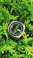SEIKO SNKM97 & PATTINI STRAP (werkmania.hu) Tags: green watch retro timepiece seiko pattini recraft snkm97