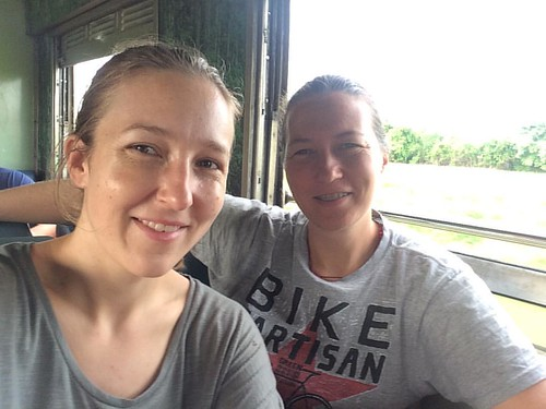 On the night train to Chiang Mai! Jungle and rice paddies and warm breezes passing us by. Onward to Thai mountain adventures with this awesome person. #favoriteperson #traintravel #thailandadventures