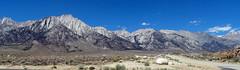 Mt Whitney Panorama, Sierra Nevada, CA 6-16 (inkknife_2000 (6.5 million views +)) Tags: california panorama usa snow mountains landscapes skyandclouds mtwhitney alabamahills mountainpeak easternsierranevada shadowsonmountains cahwy395 dgrahamphoto highestpointincontinentalusa