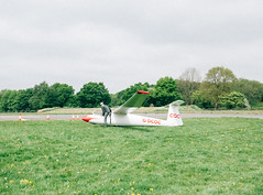 (Max Nathan) Tags: england surrey surreyhillsglidingclub glider gliding summer suburbia youcankeepyourhaton cones airfield aviation panasonicgf1