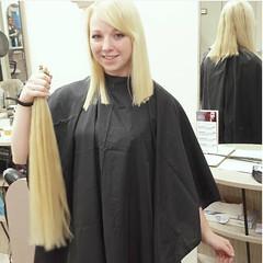 platblonde (Kenty Hairfert) Tags: haircut longhair blonde ponytail rapunzel braid longtoshort longhaircut thickponytail