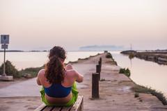 DSC_5535 (Pasquesius) Tags: sunset sea girl dock tramonto mare exercise lagoon sicily workout rosso saline molo sicilia ragazza saltponds marsala ginnastica stagnone lagunadellostagnone riservanaturaledellostagnone