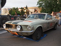 1968 - Ford Mustang Fastback (Jasonito) Tags: paris classic car russia rally olympus retro oldtimer motor  omsk challenge peking 6th omd the 2016    em5   parispeking beijingparis   panasonic14140mmf4058 omdem5