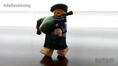 Police Bagpiper (please read description) (Kadigan Photography) Tags: dallas lego police bagpiper minifigure russmartinshow dallasstrong