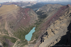 "Looking down on Cracker Lake from Mt. Siyeh • <a style=""font-size:0.8em;"" href=""http://www.flickr.com/photos/63501323@N07/28127600143/"" target=""_blank"">View on Flickr</a>"