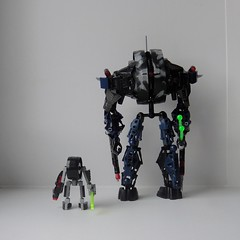 Size difference (Tails-N-Doll) Tags: robot lego bionicle technoid