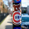 Cubs (Andy Marfia) Tags: chicago logo iso200 sticker baseball pole stopsign cubs wrigleyfield lakeview f5 11250sec d7100 1685mm