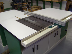 Rex Parkison table saw with VerySuperCool Tools fence system 02
