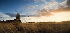 Cley Mill 30/03/15 (Matthew Dartford) Tags: sky panorama mill water windmill river reeds landscape golden coast glow pano norfolk sails goldenhour tse orrange goldenbrown settingsun broads goldenlight northnorfolk