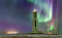 Knarrarsviti (lydurg) Tags: lighthouse dark nightphoto viti becon northenlight norurljs rjmabi knarrarsviti nturmynd auoraborealis baugstaas
