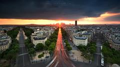 Towards the light (FredConcha) Tags: city sunset pordosol cidade paris france colors lights nikon le lee luzes d800 arcodotriunfo fredconcha