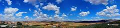 Zababdeh Panoramic View (Ivan Andoni [Photo&Art]) Tags: panorama nature clouds palestine wide panoramic fields zababdeh zababida