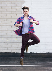 Photo Shoot : Remi (jkcphotos15) Tags: portrait man fashion photography jumping model action casual hollister