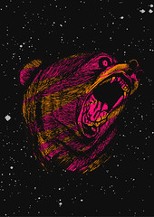 Urso headshop (behance.com/danielnardes) Tags: bear manual ilustration urso