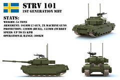 STRV 101 (Matthew McCall) Tags: army war gun tank lego sweden military swedish armor vehicle centurion