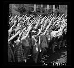 School children pledging their allegiance to the flag with the Bellamy salute described by Francis Bellamy, the author of the pledge, May 1942 by Fenno Jacobs, see comment. [5358x4913] #HistoryPorn #history #retro http://ift.tt/1TnCMNu (Histolines) Tags: school history by children francis see with flag salute may retro timeline 1942 jacobs their author comment bellamy pledge allegiance pledging described fenno vinatage historyporn histolines 5358x4913 httpifttt1tncmnu